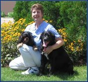 Dr. Mary Benz with her two dogs